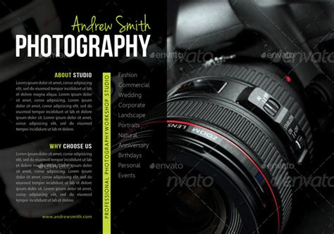 15 beautiful flyer templates for photography