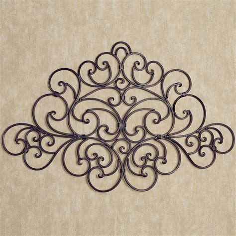 metal wall decore camilio scroll wrought iron wall grille