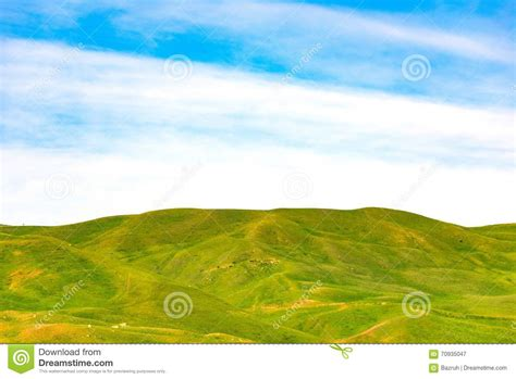 green hill landscaping hill stock photo image 70935047