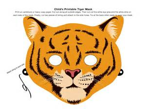 Tiger Template Printable by Make An Animal Mask Using This Clip Tiger Mask
