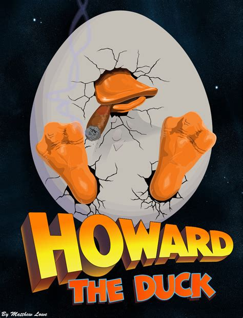 marvel film howard the duck howard the duck modified poster vector by xmattmurderx