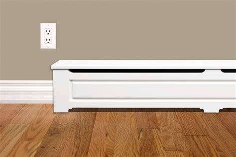 Stylish Baseboard Heaters Craftsman Style 5 Ft Wood Baseboard Heater Cover Kit In White