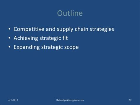 Mba In Total Quality Management Scope by Supply Chain Management Ppt Mba