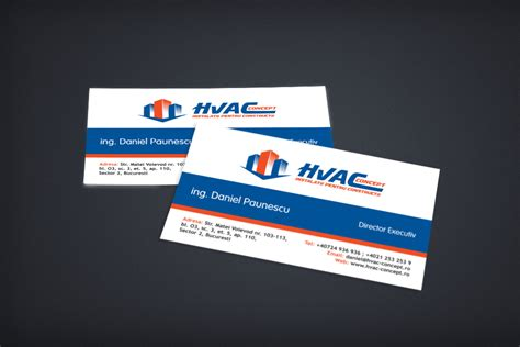 hvac business card logos best business cards