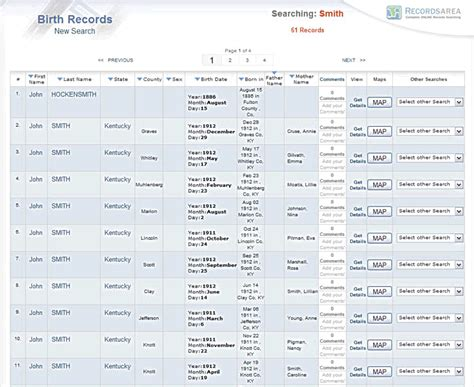 Records Searches Birth Records Search National Birth Record
