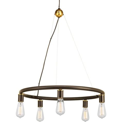 swing from chandelier progress lighting swing collection 5 light antique bronze