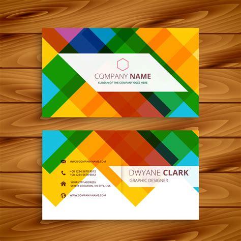 Colorful Card Design colorful business card design template vector design