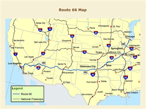 map of route 66 usa route 66 thc gov historical commission