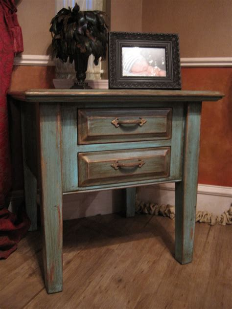 Centerpiece Hand Painted End Tables Distressed White Living Room End Table Ideas