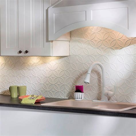 pvc backsplash panel fasade 24 in x 18 in rings pvc decorative backsplash