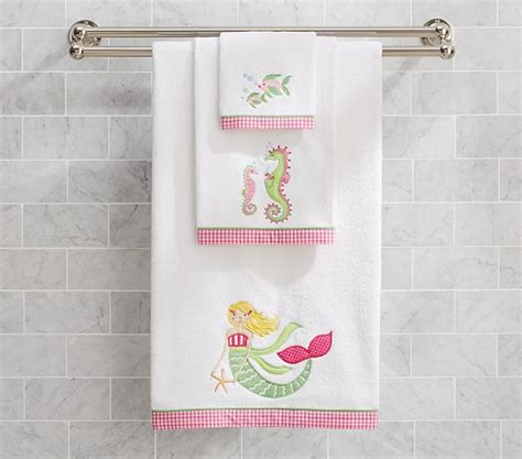 kids mermaid bathroom mermaid bath towel collection pottery barn kids