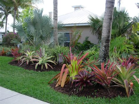 front yard landscaing with tropical seabreeze