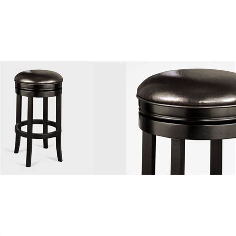 30 backless bar stools armen living 30 quot round backless swivel bar stool in black
