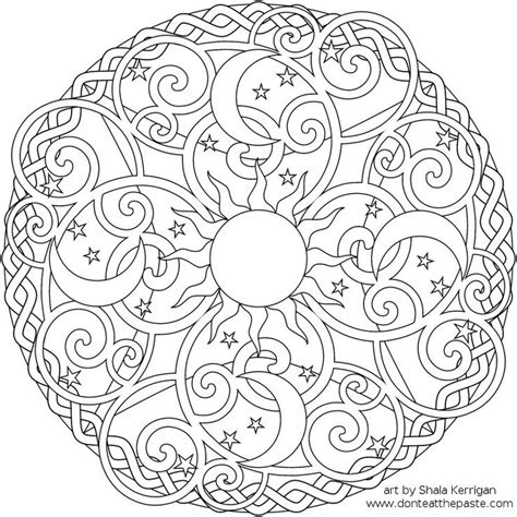 coloring pages for adults sun sun and moon art knot celtic mandalas etc pinterest