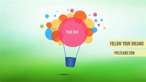 prezi templates follow dreams prezi template preziland preziland