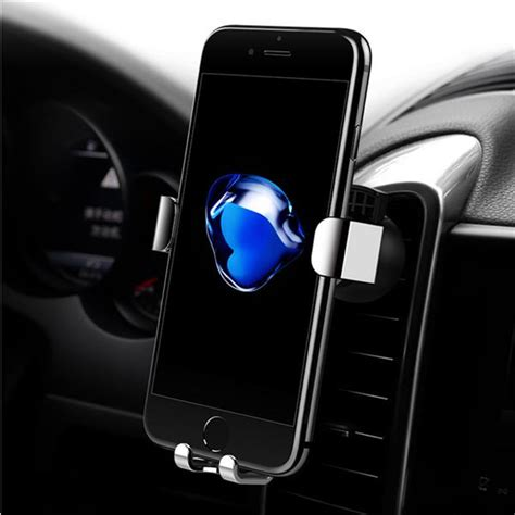 360 Degrees Auto Lock Car rock gravity auto lock metal 360 degree rotation air vent car mount phone holder for cell phone