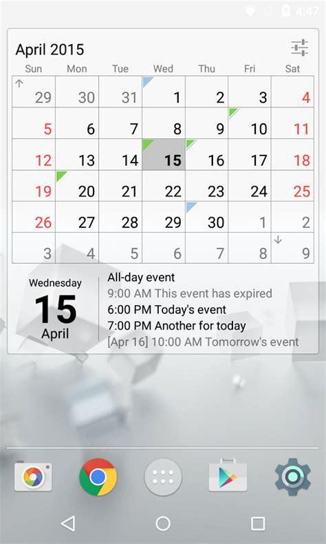 G Calendar Widget Calendar Widget Month Agenda Android Apps On Play