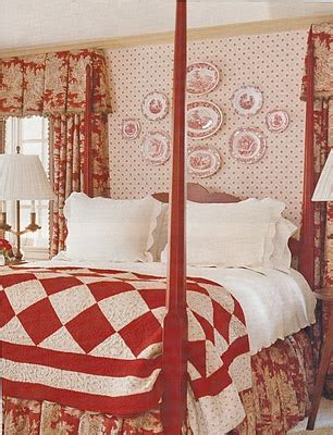 red toile bedroom love all the red for a bedroom quilt four poster