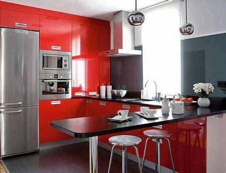 cocina peque 241 a decorada en rojo ver cocinas modernas stunning cocinas de estilo moderno