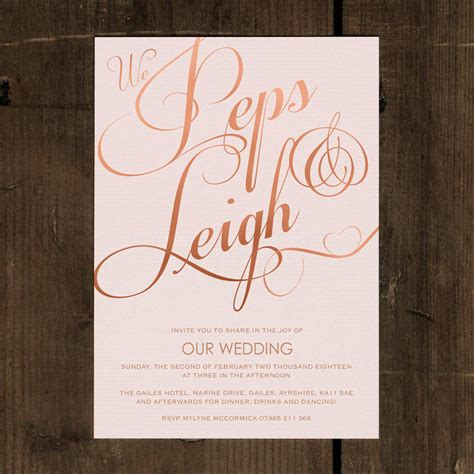 cool wedding invites paper classic script wedding invitation set by feel wedding