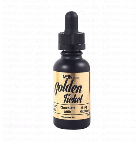 Liquid Met4 Golden Ticket golden ticket e liquid golden ticket chocolate milk e