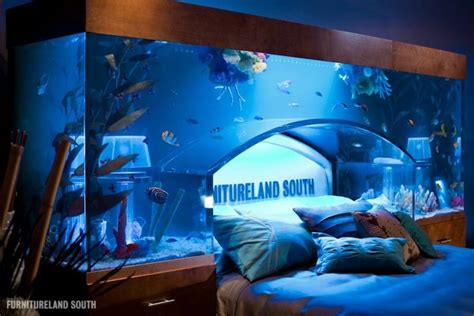 bed aquarium headboard awesome aquarium bed lets you sleep with the fishes my