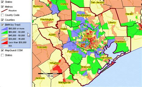 houston economic map houston the woodlands sugar land tx msa situation