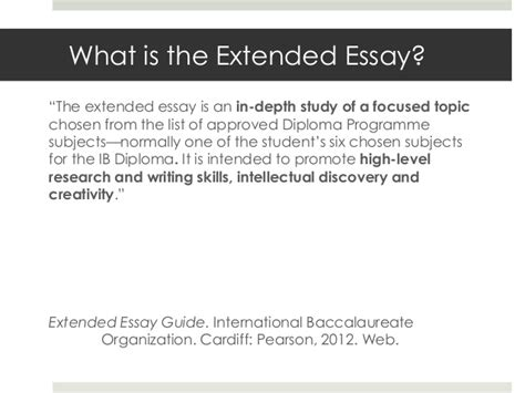 Extended Essay by Extended Essay Guidelines 2012 Ib