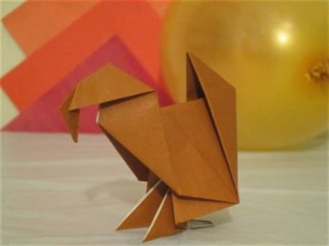 Easy Origami Turkey - how to fold origami turkey turkey in the straw useful