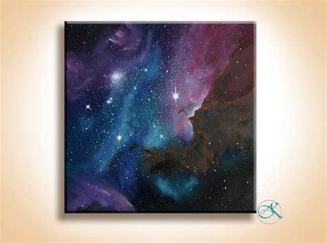 painting space galaxy nebula painting
