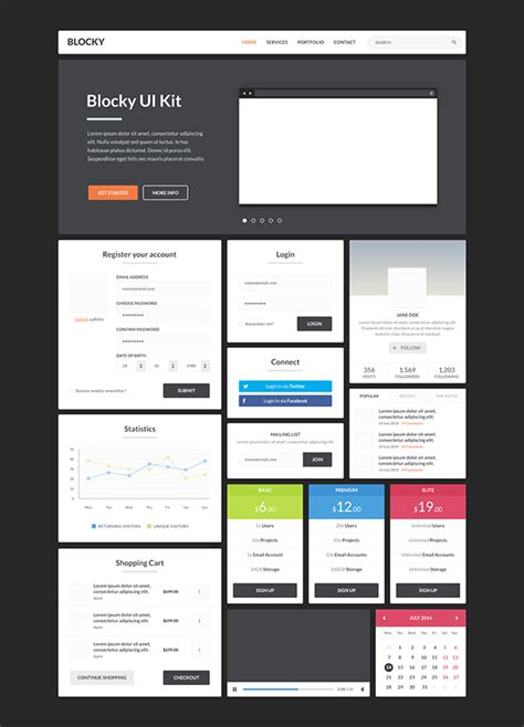 phoenix app design ui kit for psd sketch freebiesui free ui kits free photoshop psd web elements for