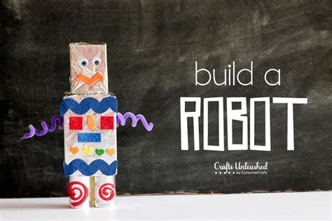 to make with children how to make a robot for craft tutorial