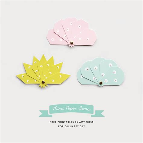 printable paper fans mini paper fan printables