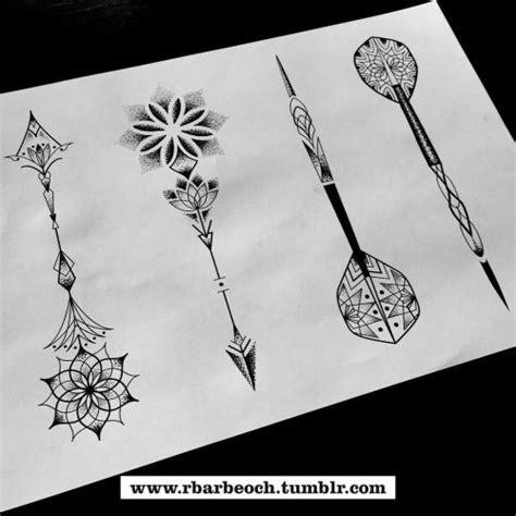 mandala arrow lotus ink pinterest arrows feminine