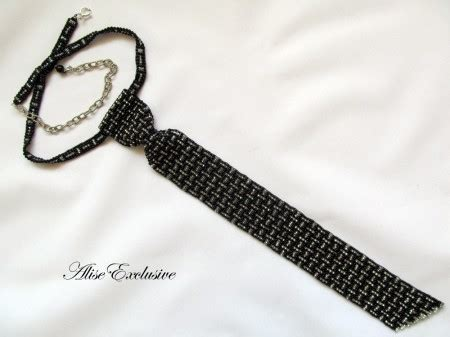 how to tie a beaded necklace black and silver tie jewelry journal