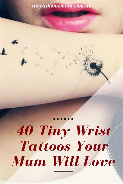 mum wrist tattoos 40 tiny wrist tattoos your will stay at home