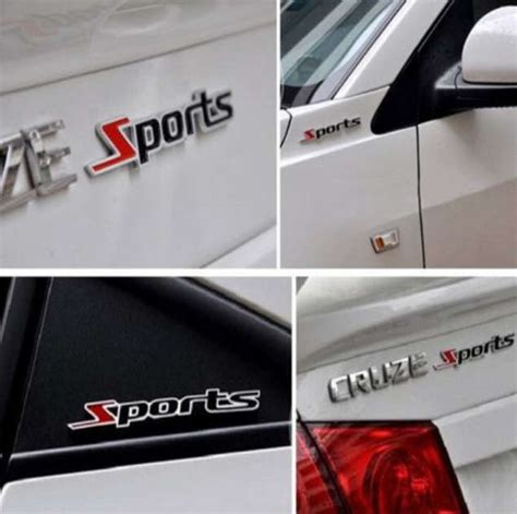 Emblem Sport Merah Kecil Stiker Emblem Mobil 3d Sports Metal Merah Hitam