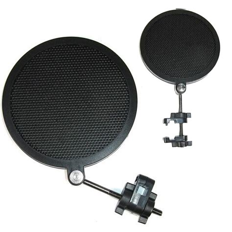 Pop Filter Cover Microphone Recording For Smulle Vlog Murah 1 small size studio mini microphone mic wind screen pop filter mask shied black ebay