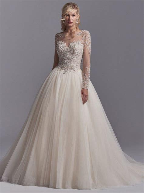 calvin ss long sleeve princess ballgown wedding