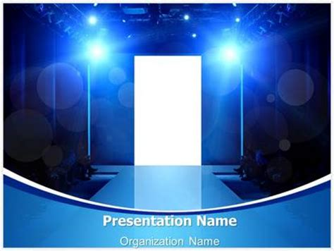 Fashion Show Stage Powerpoint Template Background Subscriptiontemplates Com Show Powerpoint Template