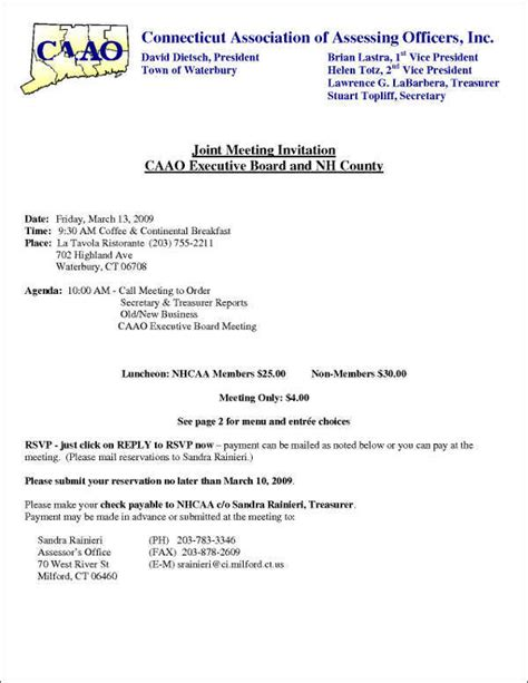 Sle Invitation Letter For Committee Meeting Sle Invitation Letter To A Board Meeting Docoments Ojazlink