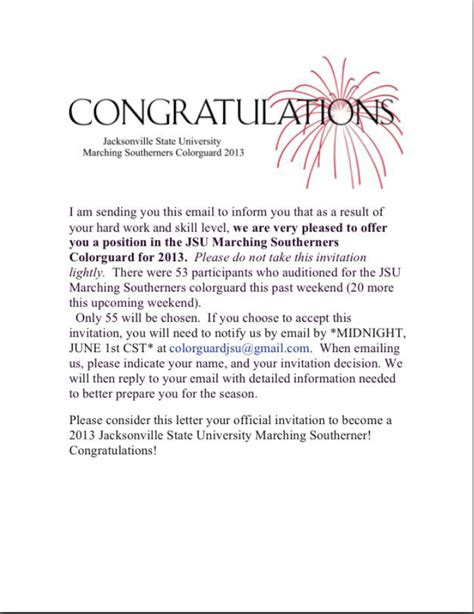Best Photos Of Congratulations On Your Promotion Letter Scholarship Email Template