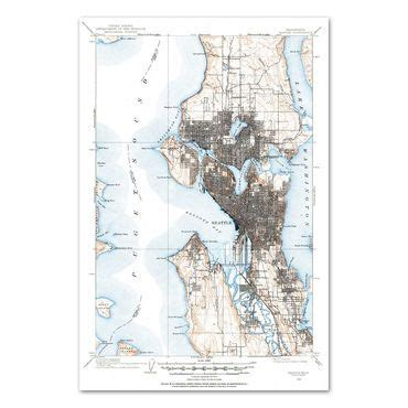 seattle map topo 93 best images about we pikes place on
