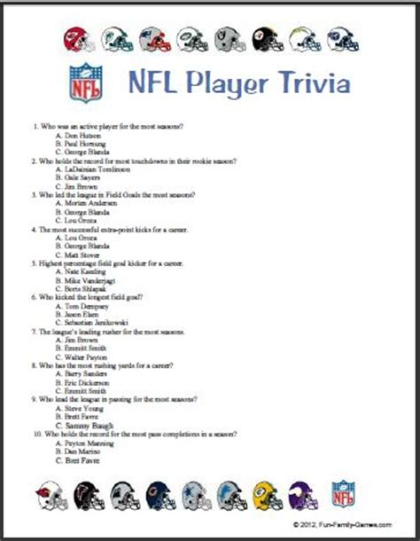 8 best images of printable s trivia 2012 nfl trivia questions and answers images gallery