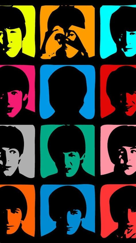 The Beatles 5 beatles faces iphone 5 wallpaper iphone 6 wallpapers