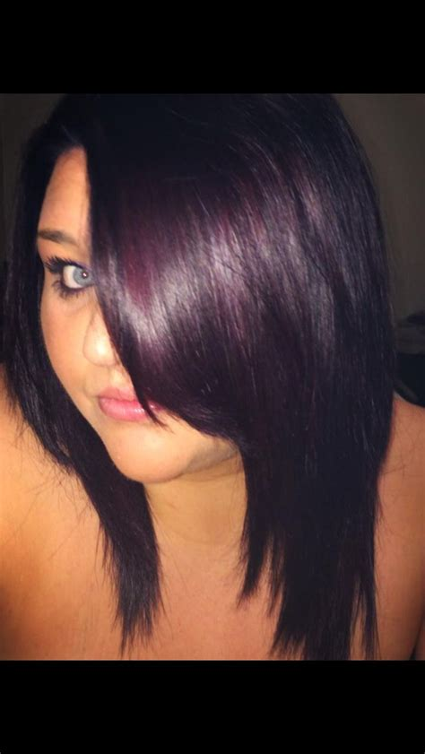 black plum hair color my new hair fav color plum black hair of hair