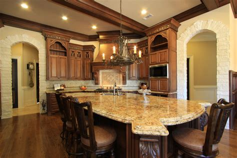 French Country Kitchen Backsplash by High End Kitchen Design