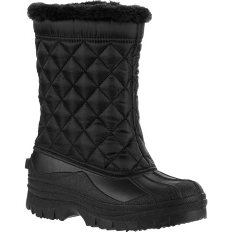 walmart snow boots for s faux fur winter snow boots shoes walmart