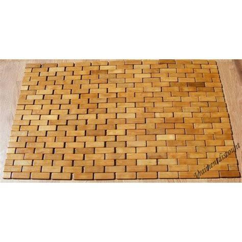 tapis de bain bambou tapis de bain en bambou ziloo fr