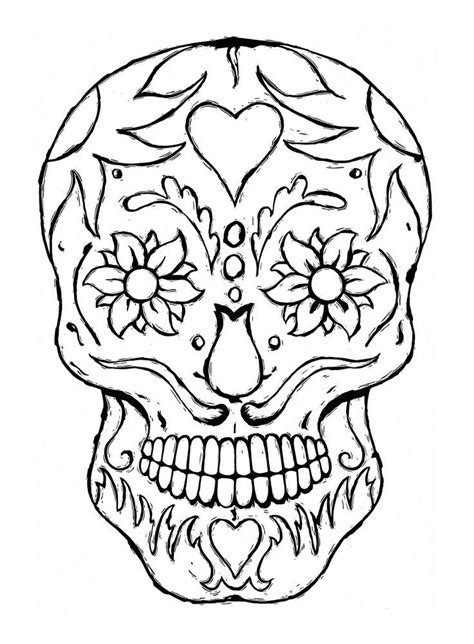 Sugar Skull Coloring Pages Coloring Home Sugar Skull Coloring Pages